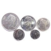 Венесуэла. Набор монет 1989-1990 гг.